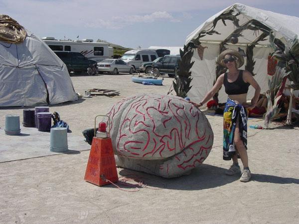 Brain Art. Burning Man ... & Burning Man 2002